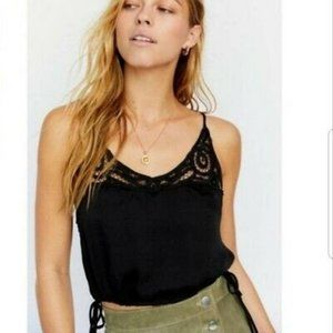 NWT Free People Satin Cropped Cami Top sz small #A